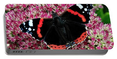 Red Admiral Butterfly Vanesa Atalanta Portable Battery Charger