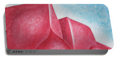 Portable Battery Charger featuring the painting Red Adobes Under Winter Desert Sky by Ben Gertsberg