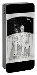 Portable Battery Charger featuring the drawing Red Alert by John Haldane
