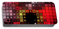 Portable Battery Charger featuring the digital art Red Alert by Shawna Rowe