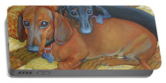 Red And Black Dachshunds - Best Buds Portable Battery Charger