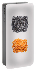 Red And Black Lentils Portable Battery Charger