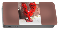 Portable Battery Charger featuring the photograph Red And Black Rooster by Jay Milo
