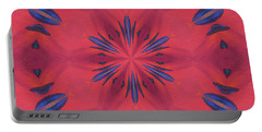 Portable Battery Charger featuring the mixed media Red And Blue by Elizabeth Lock