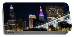 Portable Battery Charger featuring the photograph Red And Blue In Cleveland by Dale Kincaid