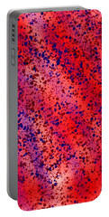 Red And Blue Splatter Abstract Portable Battery Charger
