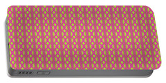 Portable Battery Charger featuring the digital art Red And Gold by Elizabeth Lock