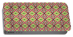 Portable Battery Charger featuring the digital art Red And Green by Elizabeth Lock
