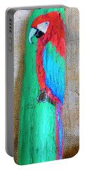 Red And Green Macaw  Portable Battery Charger by Ann Michelle Swadener