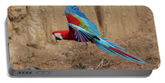 Red-and-green Macaw Portable Battery Charger