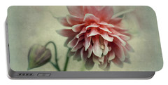 Red And Pink Columbine Portable Battery Charger