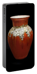 Red And White Vase Portable Battery Charger