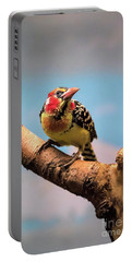 Red And Yellow Barbet Portable Battery Charger
