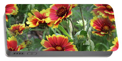 Red And Yellow Daisy Dreams Portable Battery Charger