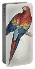 Red And Yellow Macaw  Portable Battery Charger