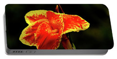 Red And Yellow Single Flower Portable Battery Charger