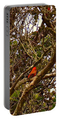 Red Apapane In Ohia Forest  Portable Battery Charger