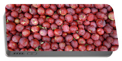 Red Apples Background Portable Battery Charger