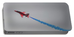 Red Arrow Blue Smoke - Teesside Airshow 2016 Portable Battery Charger by Scott Lyons