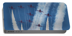 Red Arrows At Duxford Portable Battery Charger by Ken Brannen