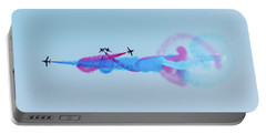 Portable Battery Charger featuring the photograph Red Arrows Break by Gary Eason