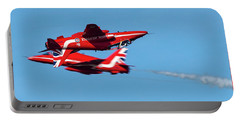 Portable Battery Charger featuring the photograph Red Arrows  by Cliff Norton