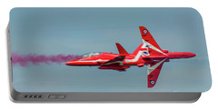 Portable Battery Charger featuring the photograph Red Arrows Crossover by Gary Eason