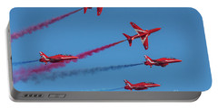 Portable Battery Charger featuring the photograph Red Arrows Enid Break by Gary Eason