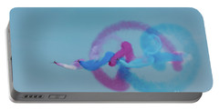 Portable Battery Charger featuring the photograph Red Arrows Gypo Swirls by Gary Eason