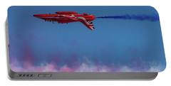 Portable Battery Charger featuring the photograph Red Arrows Hawk Inverted  by Gary Eason