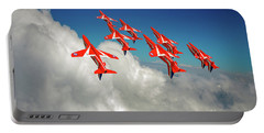 Portable Battery Charger featuring the photograph Red Arrows Sky High by Gary Eason