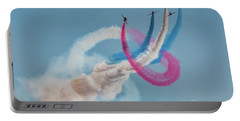 Portable Battery Charger featuring the photograph Red Arrows Twister by Gary Eason