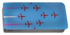 Portable Battery Charger featuring the photograph Red Arrows Typhoon Formation by Gary Eason