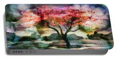 Red Autumn Tree Portable Battery Charger