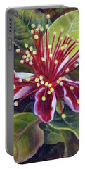 Pineapple Guava Flower Portable Battery Charger