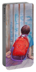 Red Backpack Portable Battery Charger