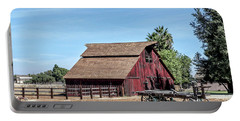 Red Barn And Wagon Portable Battery Charger