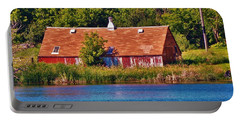 Red Barn Blue Water Portable Battery Charger