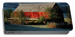 Portable Battery Charger featuring the photograph Red Barn by Douglas Stucky