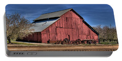 Portable Battery Charger featuring the photograph Red Barn by Jim and Emily Bush