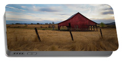 Red Barn In California Portable Battery Charger