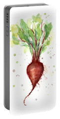 Red Beet Watercolor Portable Battery Charger
