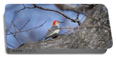 Portable Battery Charger featuring the photograph Red-bellied Woodpecker 1134 by Michael Peychich