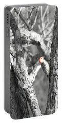 Portable Battery Charger featuring the photograph Red-bellied Woodpecker by Benanne Stiens