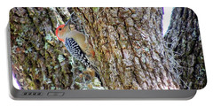 Red-bellied Woodpecker By Bill Holkham Portable Battery Charger by Bill Holkham