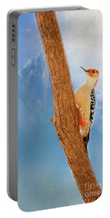 Portable Battery Charger featuring the digital art Red Bellied Woodpecker by Darren Fisher