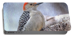Red-bellied Woodpecker Portable Battery Charger by Patti Deters