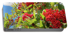 Red Berries, Blue Skies Portable Battery Charger