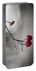 Red Berries Portable Battery Charger