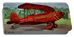 Red Biplane Portable Battery Charger